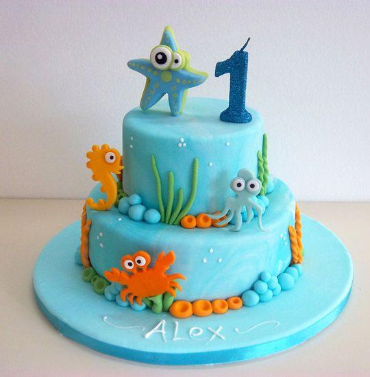 bolo decorado fundo mar 3