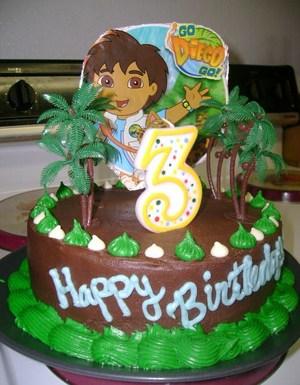 bolo decorado go diego go