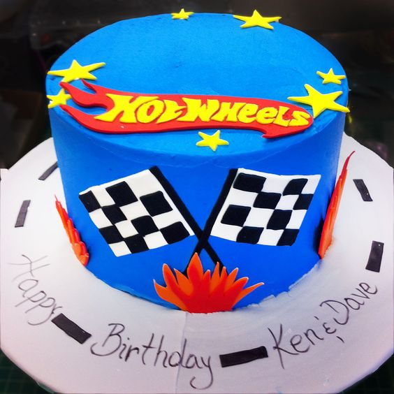bolo decorado hot wheels 7