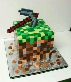 bolo decorado minecraft