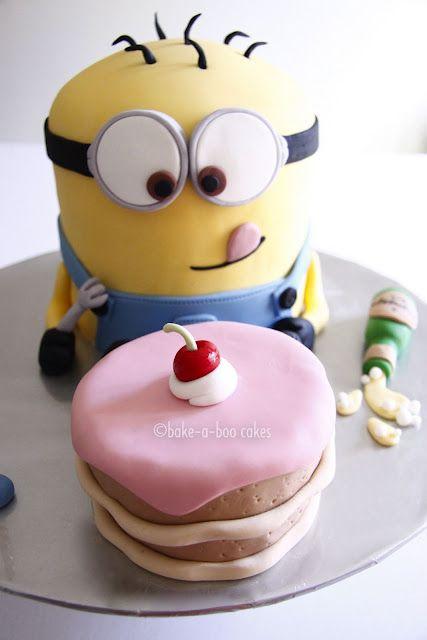 bolo decorado minions