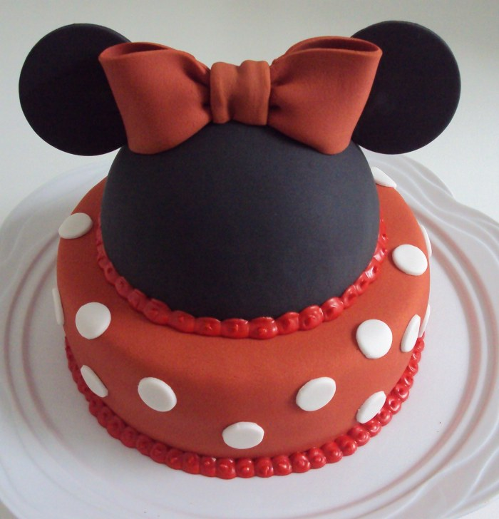 bolo decorado minnie mickey