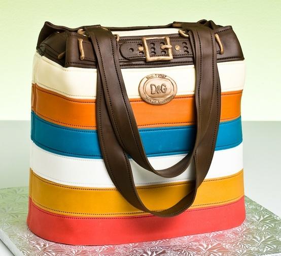 bolo decorado mulher bolsa marca