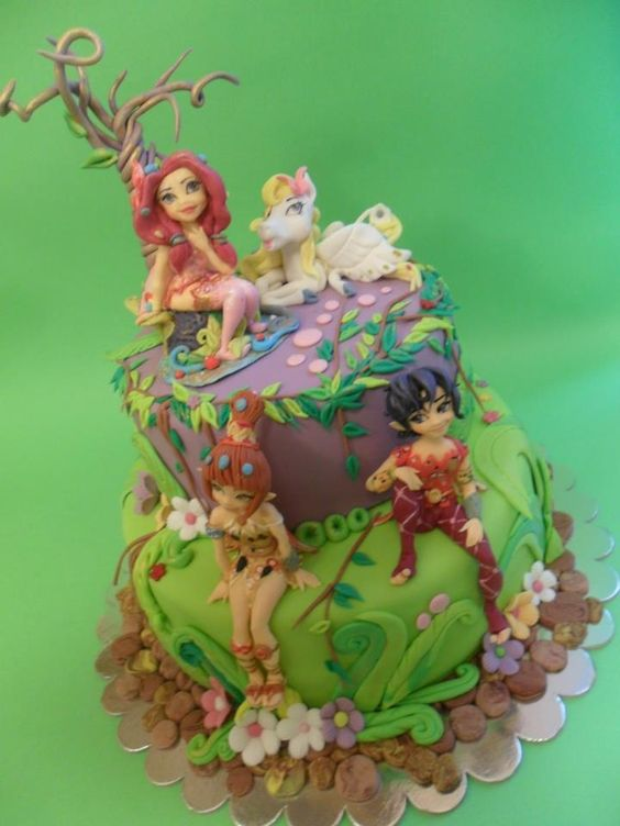 bolo decorado mundo mia