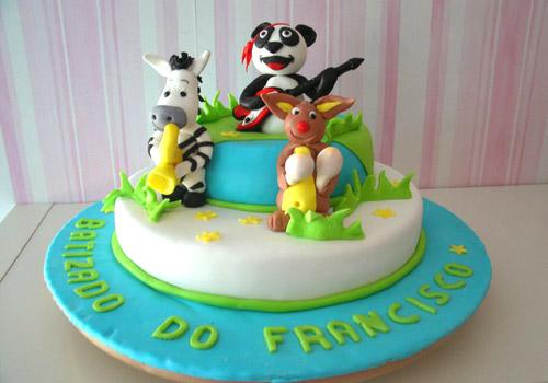 bolo decorado panda