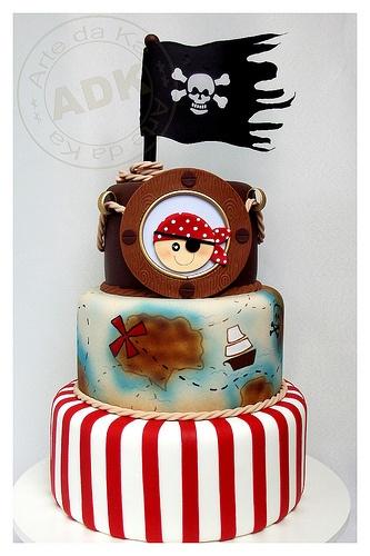 bolo decorado pirata