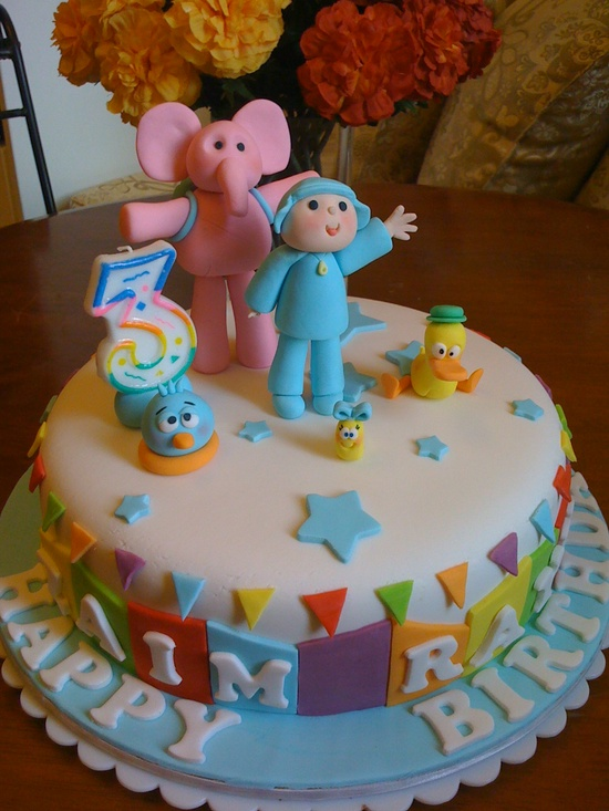 bolo decorado pocoyo 2
