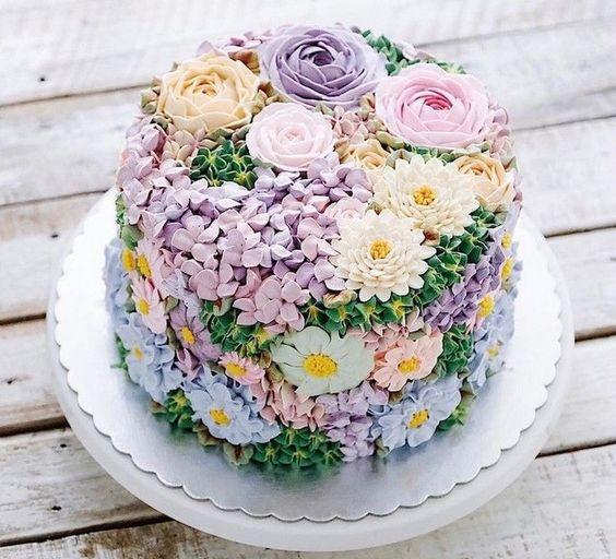 bolo decorado primavera 11