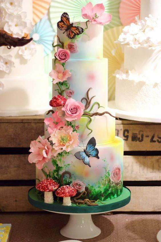 bolo decorado primavera 14