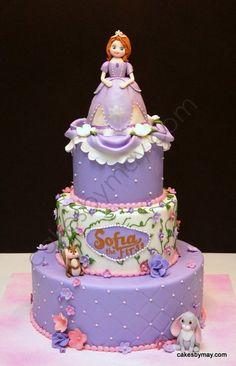 bolo decorado princesa sofia