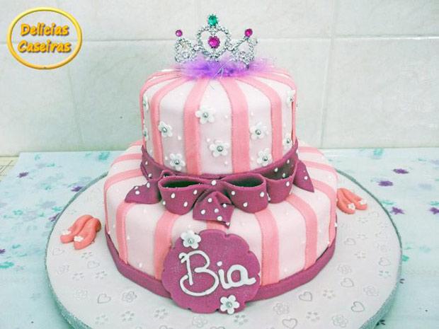 bolo decorado prncesa