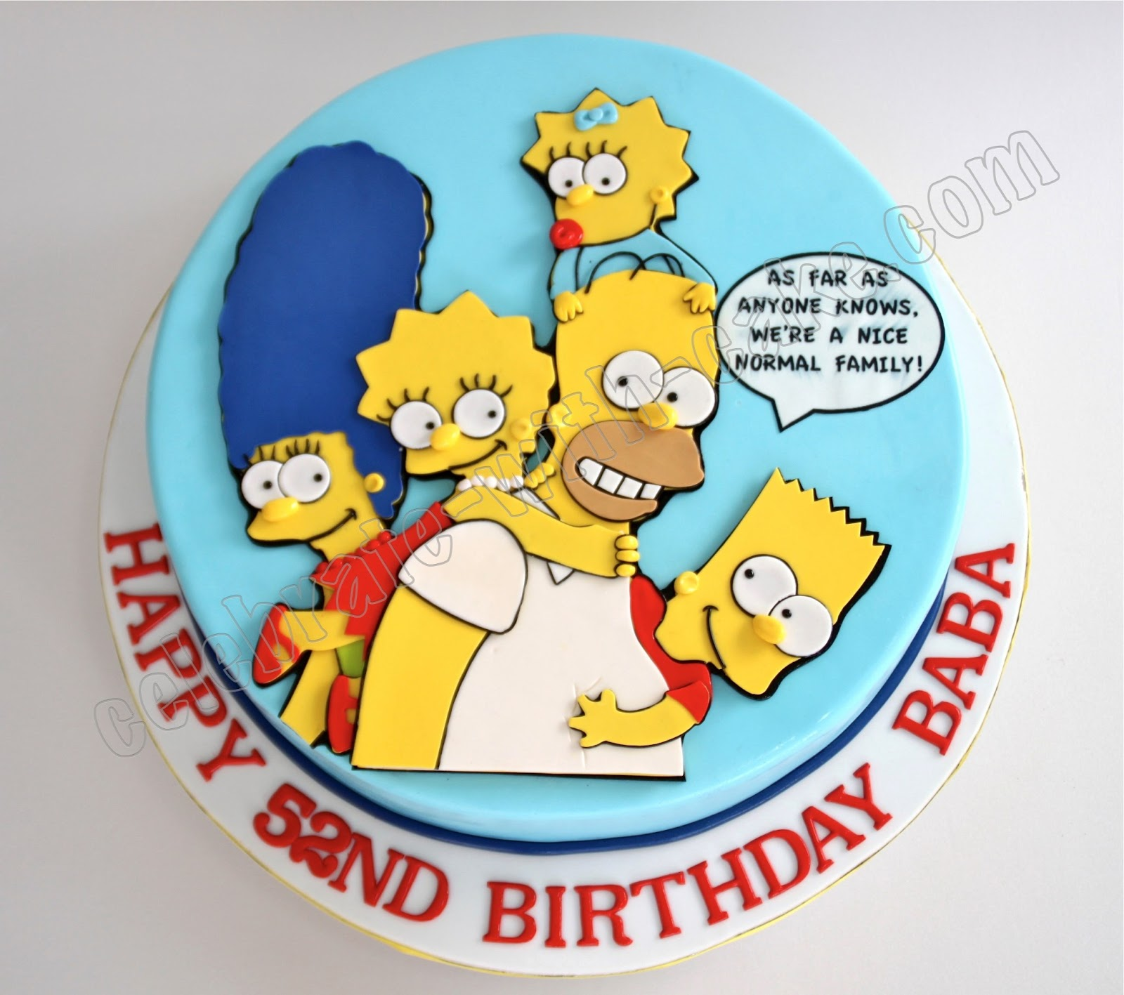 bolo decorado simpsons redondo Bolos decorados dos Simpsons