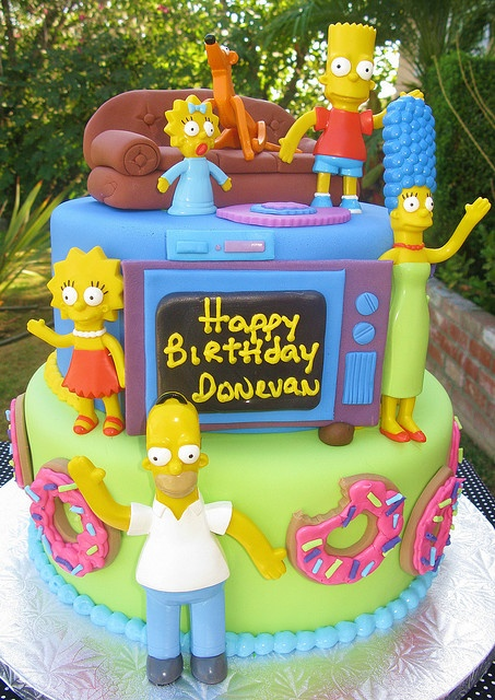 bolo decorado simpsons Bolos decorados dos Simpsons