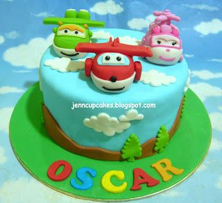 bolo decorado super wings 5