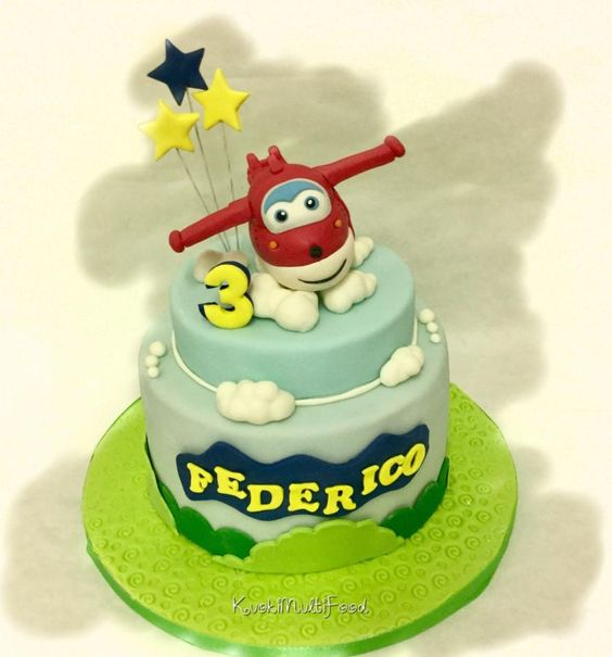 bolo decorado super wings 8