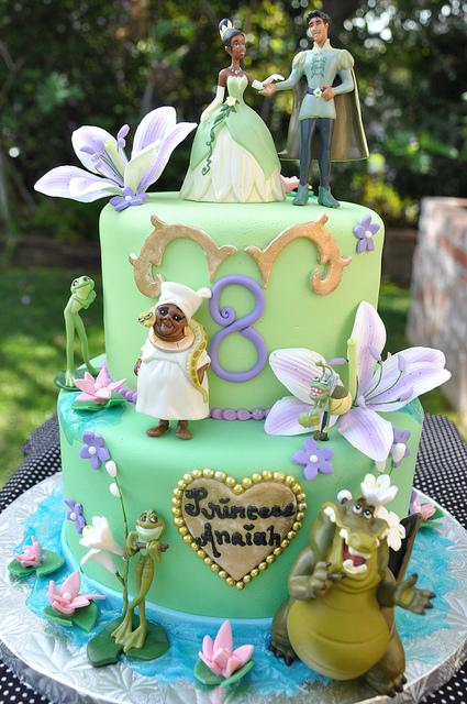 Tiana Birthday Cake