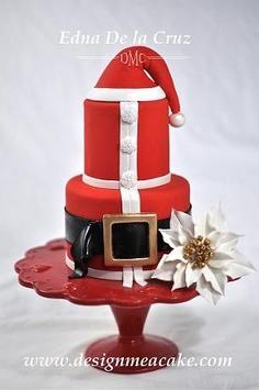 bolo do pai natal