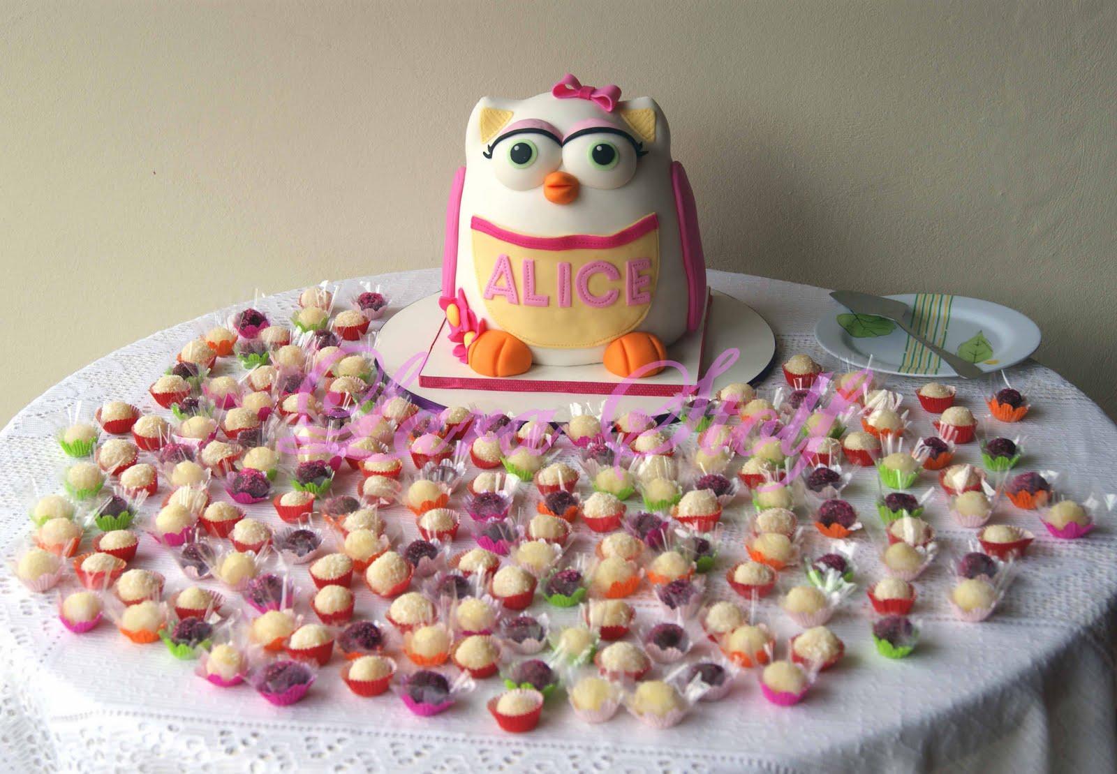 bolo docinhos coruja