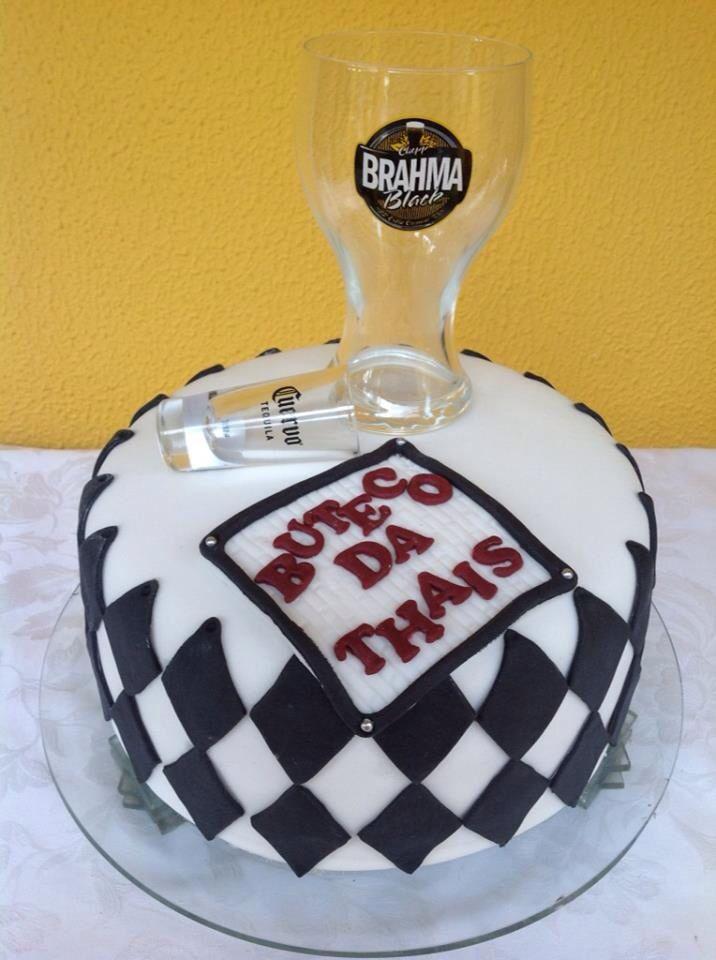 decorar um boteco:bolo festa boteco – Bolos de Aniversário Decorados