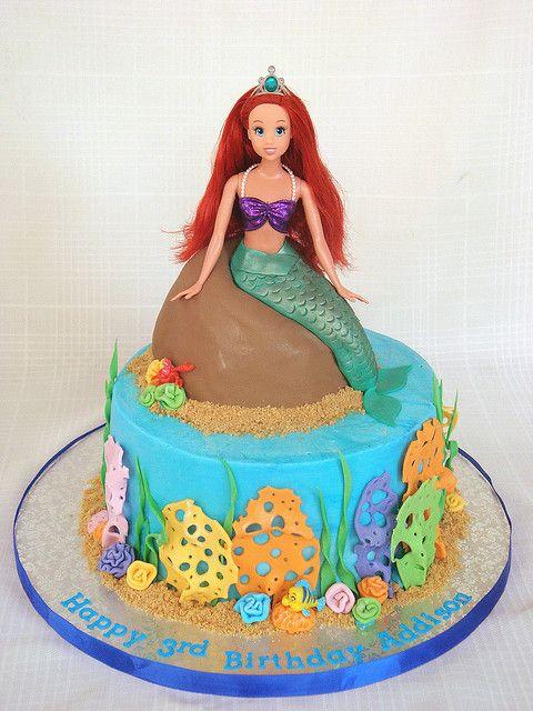 bolo fundo mar sereia