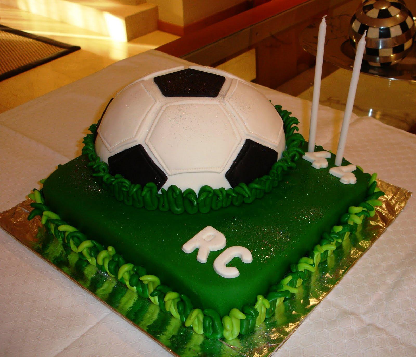bolo futebol Bolo de aniversário rapaz