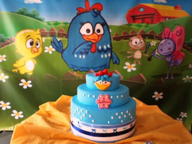bolo galinha pintadinha azul