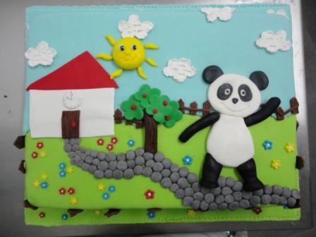 bolo infantil panda