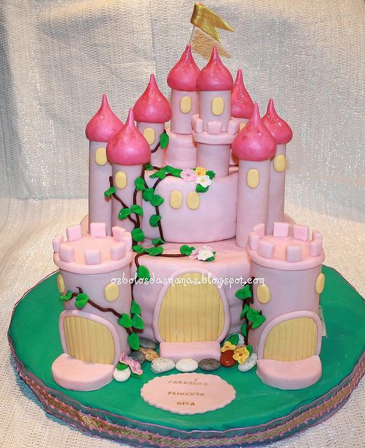 bolo menina castelo