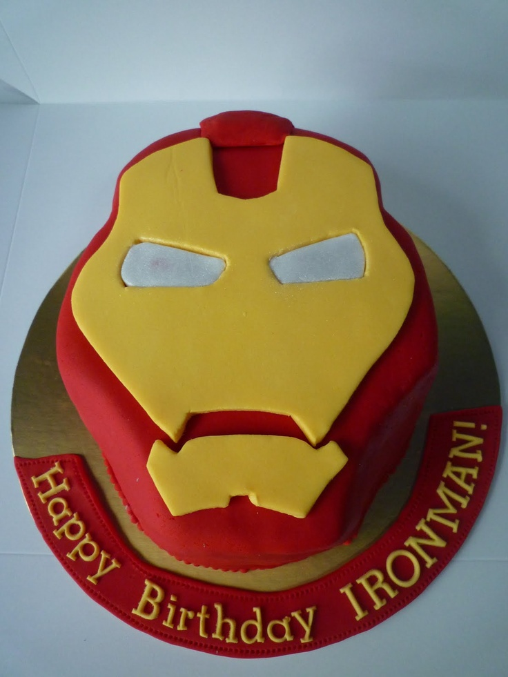 bolo menino homem de ferro
