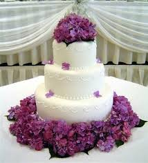 bolo noiva flores lilas
