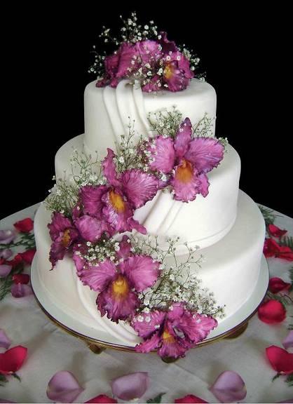 bolo noiva flores rosa