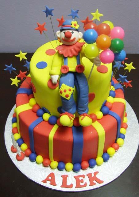 bolo palhaço baloes