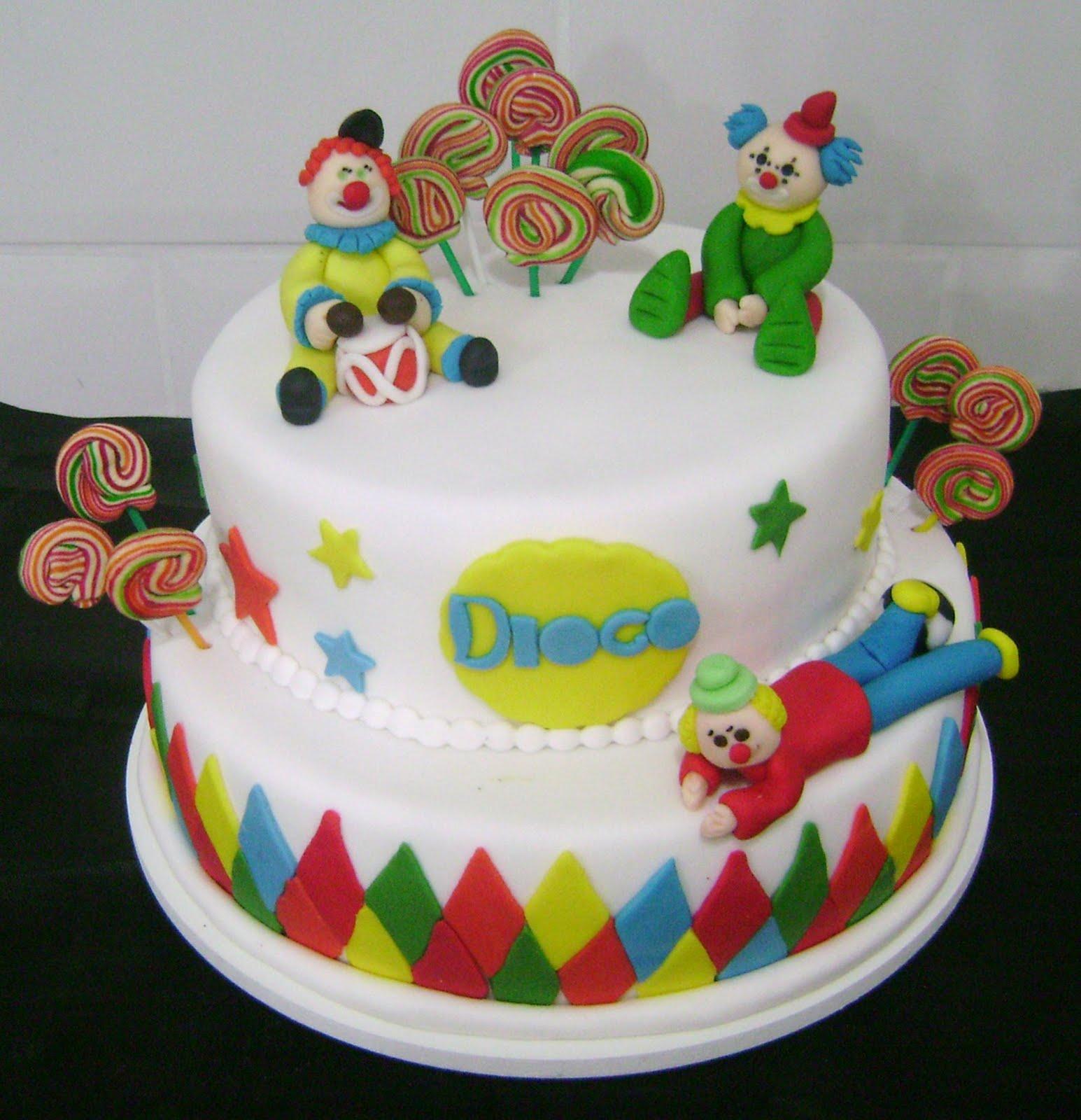bolo palhaço redondo