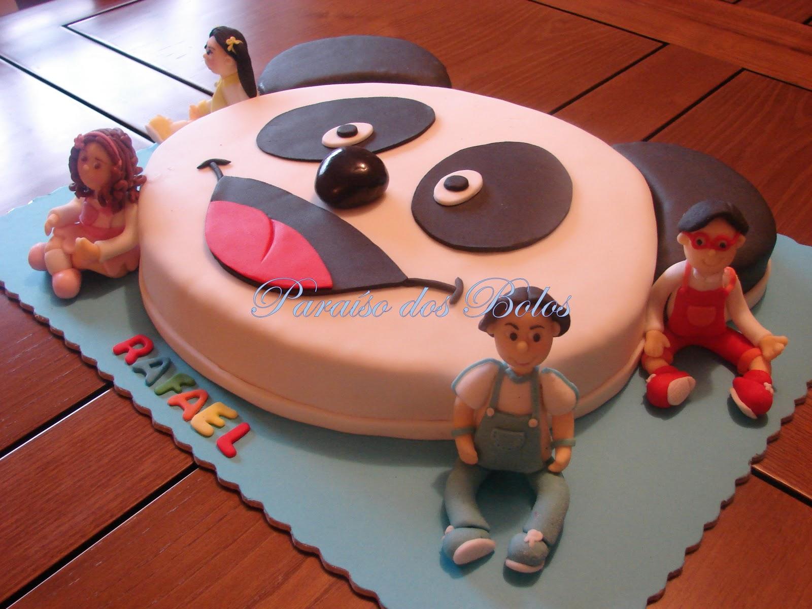 bolo panda e e os caricas infantil Bolos decorados do Panda