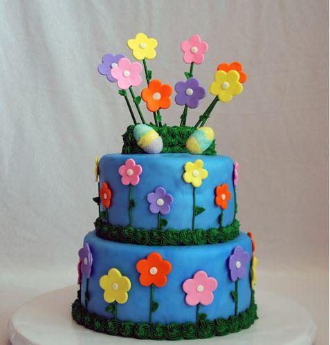 bolo pascoa flores