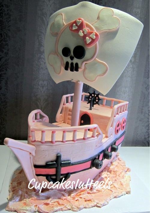 bolo pirata barco menina