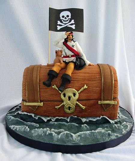 bolo pirata tesouro