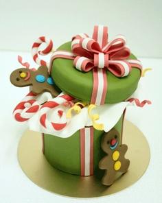 bolo presente de natal