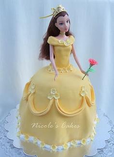 bolo princesa bela