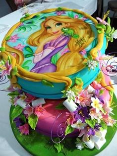 bolo princesa rapunzel
