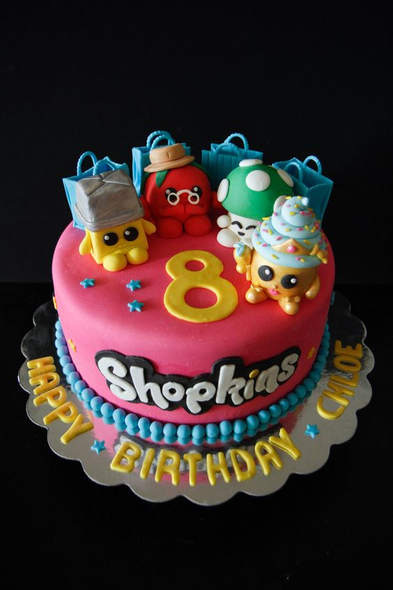 bolos decorados Shopkins 1