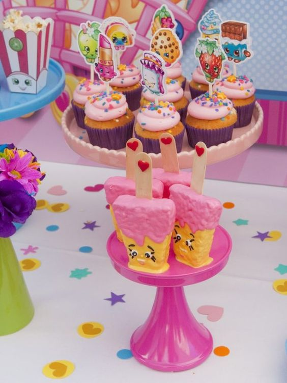 bolos decorados Shopkins 10
