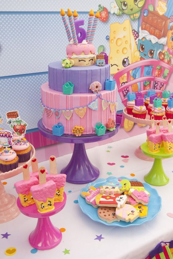 bolos decorados Shopkins 2