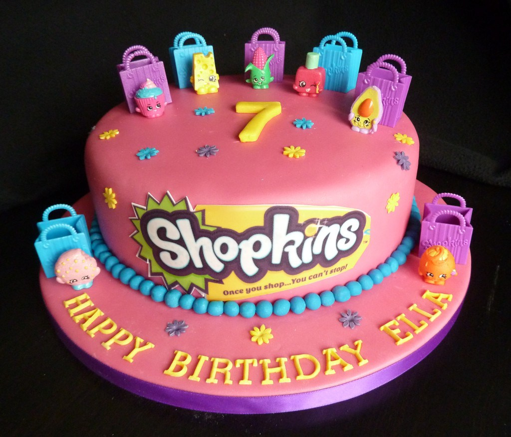 bolos decorados Shopkins 5