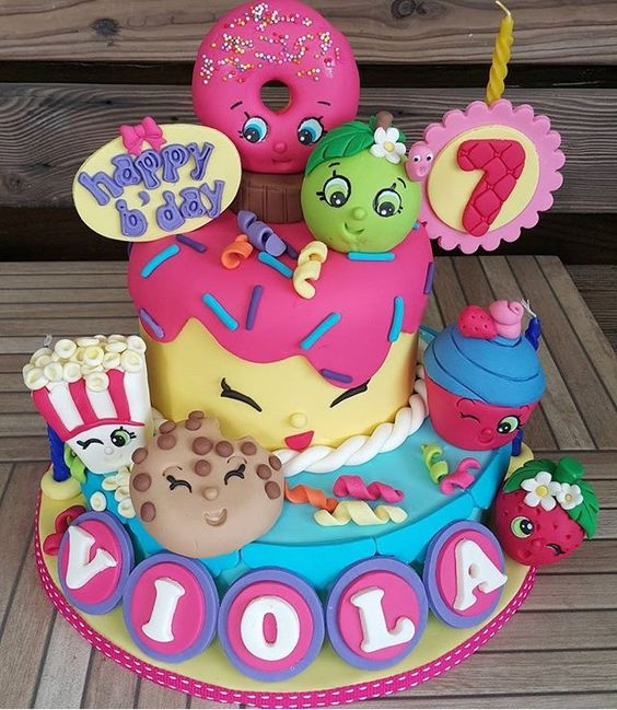 bolos decorados Shopkins 8