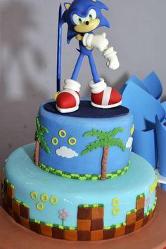 bolos decorados do sonic
