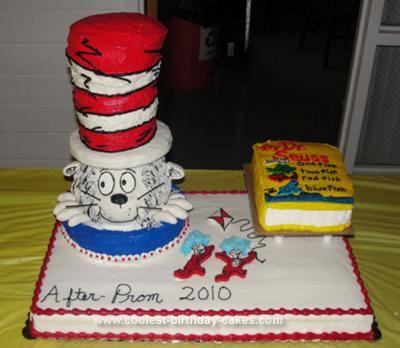 bolos decorados dr seuss