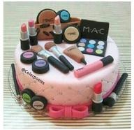 bolos decorados maquiagem mac