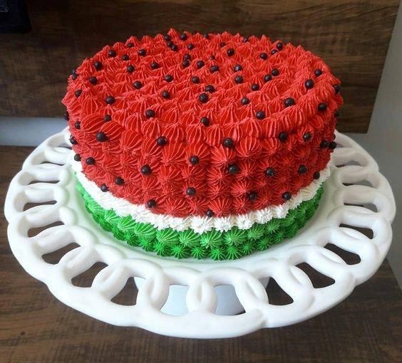 bolos decorados melancia 1