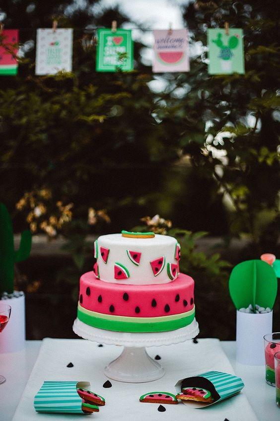 bolos decorados melancia 3